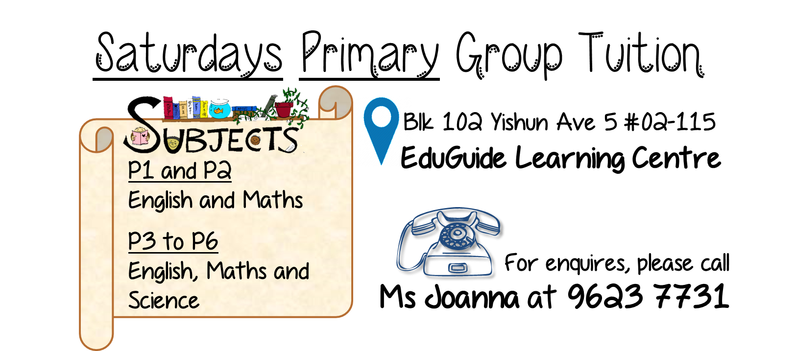 P5 English, Maths & Science Group Tuition