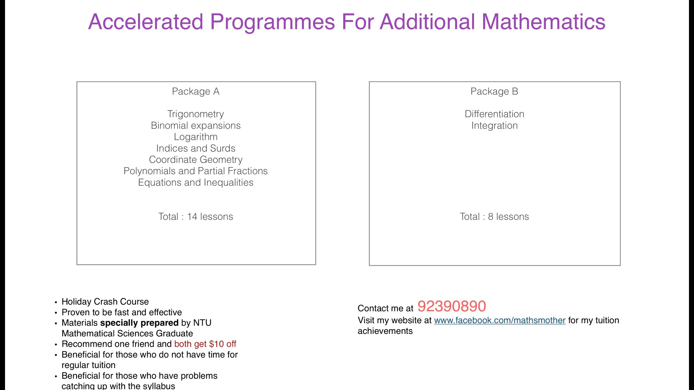Accelerated Amaths programmes