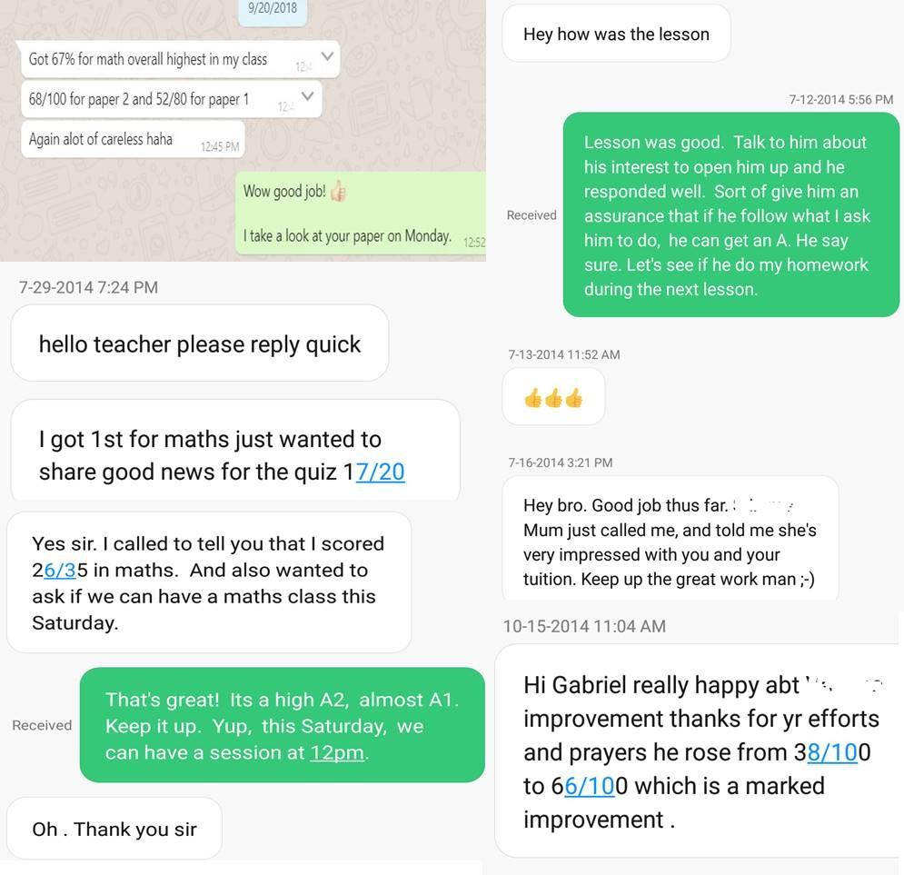 O level Math Tuition (2019)