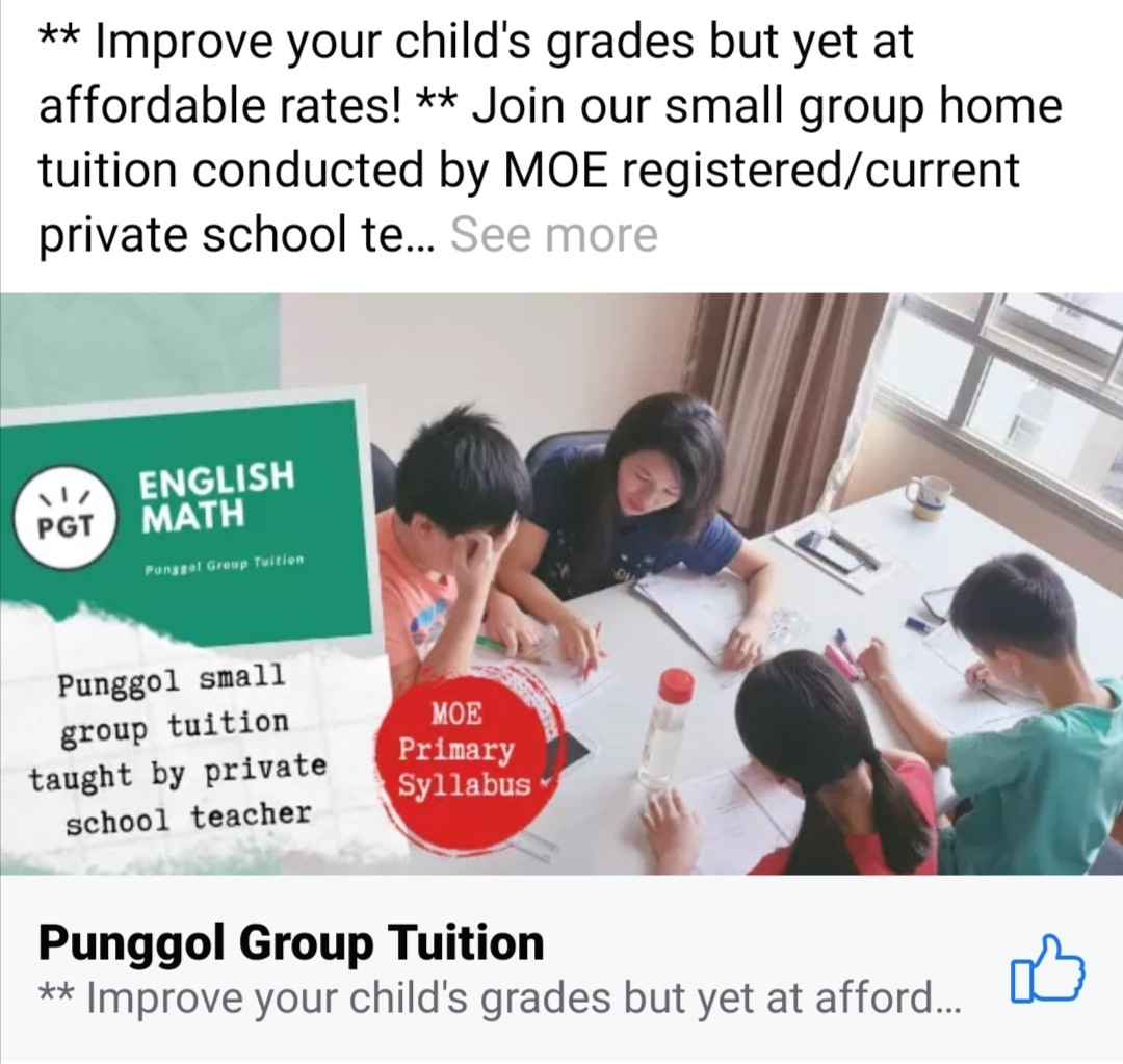 P5 English Group Tuition @ 604 Punggol