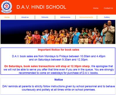 D A V Hindi School
