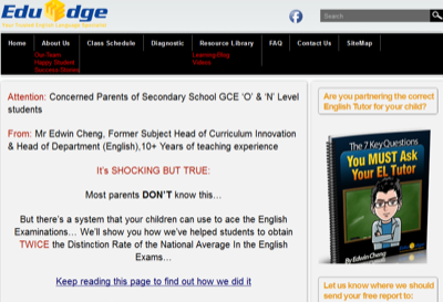 Eduedge Secondary English Tuition