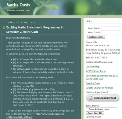 Maths Oasis Pte Ltd