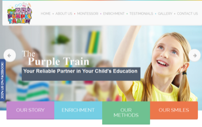 The Purple Train Learning Station
